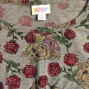 LuLaRoe Miss Piggy Roses Carly dress BNWT
